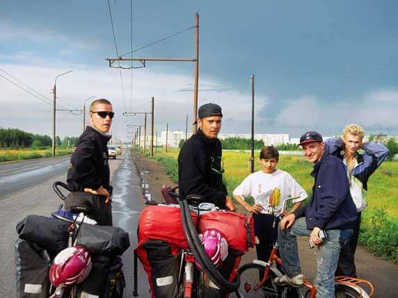 Ronald Prokein und Markus Möller durchqueren auf ihrer Weltumradlung Russland. Foto: Ronald Prokein