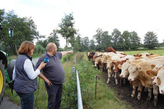 Landwird Jens Rasim im Interview zum BiosphärenRind. Foto: Gerd Schriefer