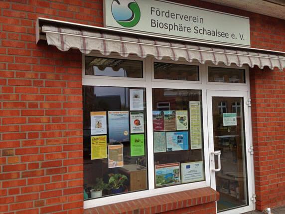 Das Büro des Fördervereins Biosphäre Schaalsee in Zarrentin. Foto: Frank Hermann