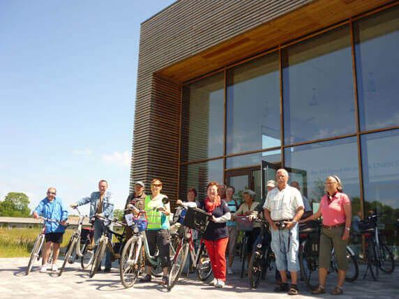 FahrradTour-Biosphäre an der Gläsernen Molkerei in Dechow. Foto: Frank Hermann