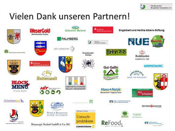 Unternehmen und Institutionen, die den Förderverein Biosphäre Schaalsee e.V. unterstützen.