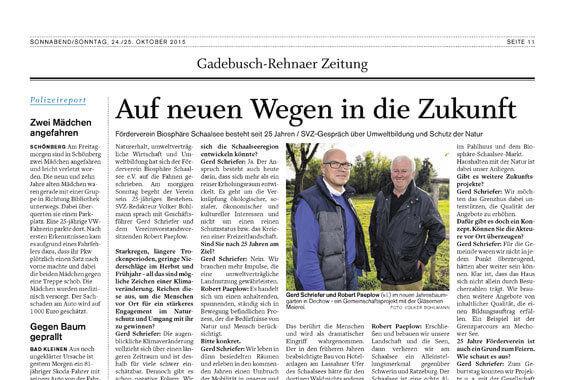 Interview in der Schweriner Volkszeitung vom 24./25.10.2015
