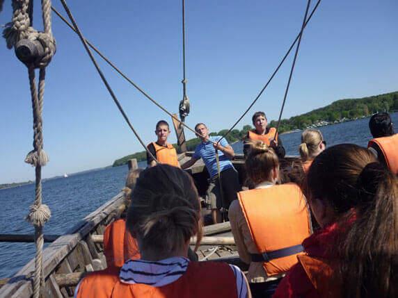 GUT DRAUF-Wochenende, Segeln mit dem Schiff. Foto: Frank Hermann