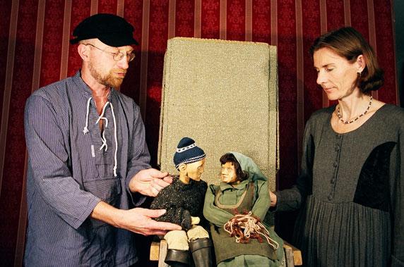 """Puppenspiel """"Frau Fischer und ihr Mann"""". Foto: Figurentheater Ernst Heiter"""