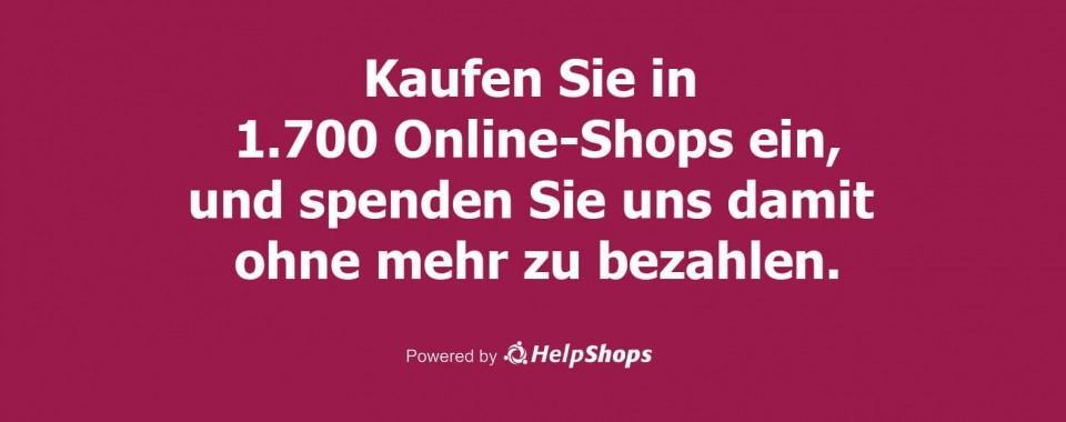Online shoppen und Gutes tun.
