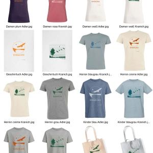 Schaalsee T-Shirts in Bio- und Fair Wear-Qualität, Einkaufsbeutel und Geschirrtücher.
