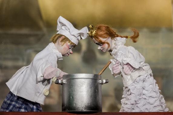 """Puppenspiel """"Dornröschen"""". Foto: Metzner/Theater Maskotte, Buchholz"""
