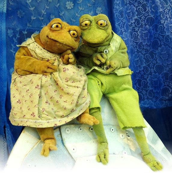 """Puppenspiel """"Frieda und Frosch"""". Foto: Tandera Theater, Testorf"""