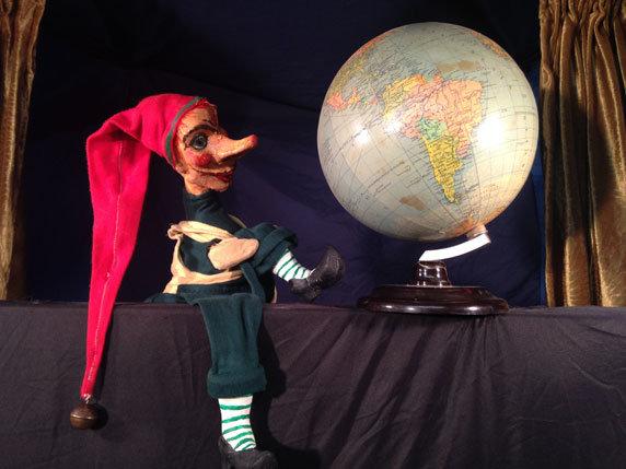 """Puppenspiel """"Kasper und die Weltreise"""". Foto: Puppentheater Schlott, Neu Nantrow"""
