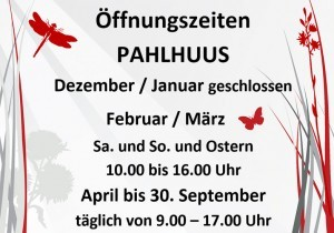 Öffnungszeiten PAHLHUUS