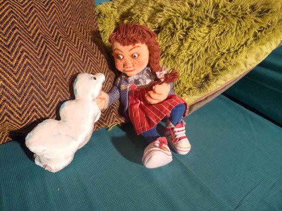 "Puppenspiel ""Das Wolkenschaf"". Foto: Figurentheater Schnuppe, Gingst"