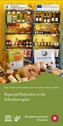 Faltblatt regionaler Einkaufsführer
